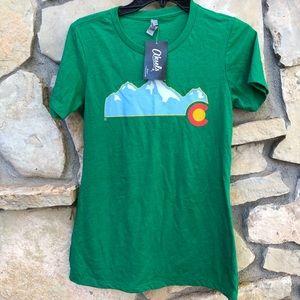 Aksels Colorado Green Short Sleeve Top